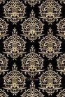Notizen: Goldfarbenes Damask Ornament Tagebuch / Journal Mit 120 Leeren Karierten Seiten Für Deine Notizen, Gedanken, Aufgaben,