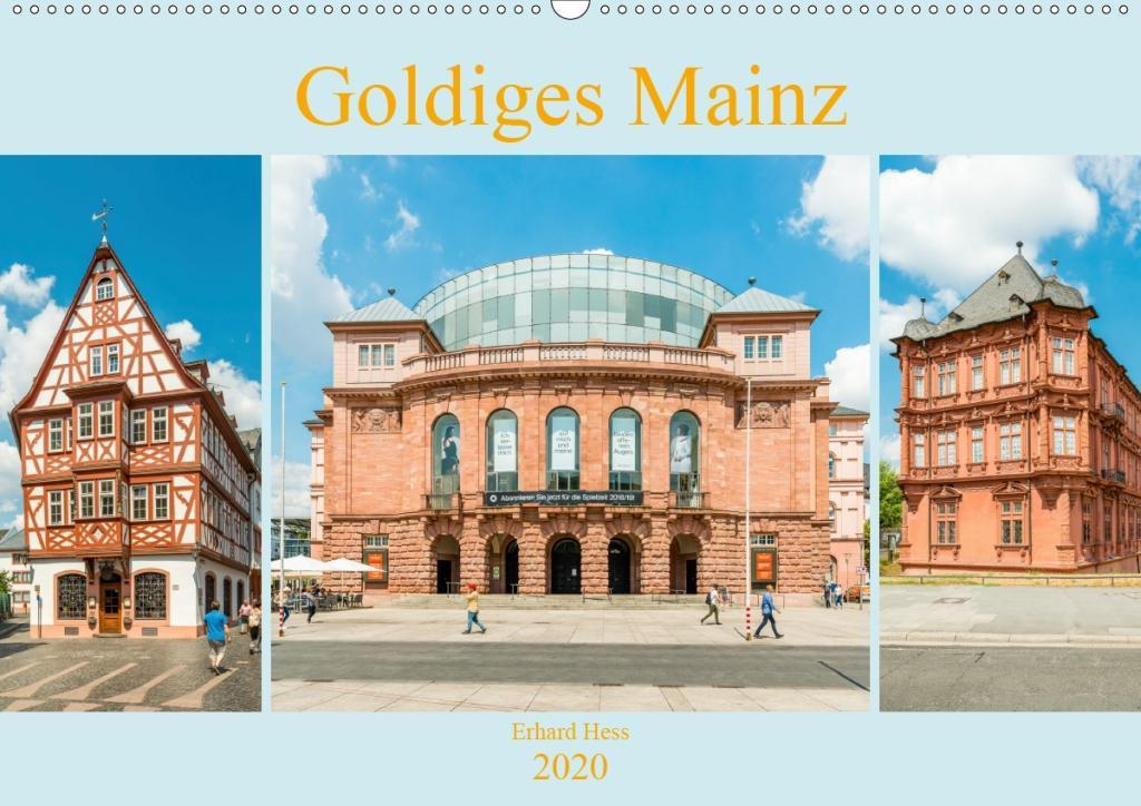 Goldiges Mainz (Wandkalender 2020 DIN A2 quer) als Kalender