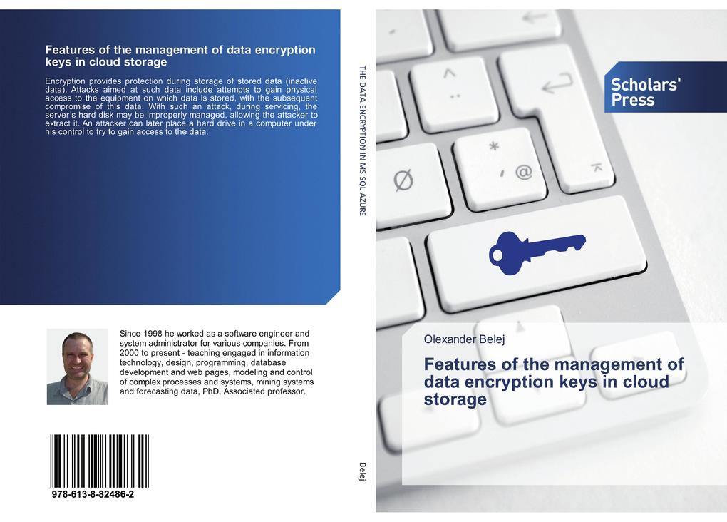 Features of the management of data encryption keys in cloud storage als Taschenbuch
