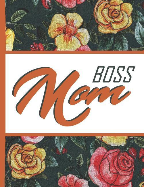 Flower Bloom: Boss Mom Watercolor Rose Flower Bloom Vintage Foral Composition Notebook Lightly Lined Pages Daily Journal Blank Diary als Taschenbuch