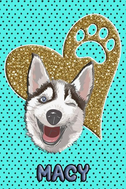 Husky Life Macy: College Ruled Composition Book Diary Lined Journal Blue als Taschenbuch