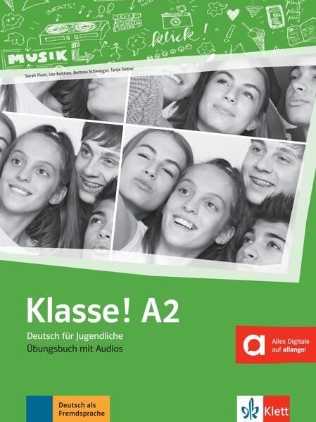 Klasse! A2. Übungsbuch mit Audios online als Buch (kartoniert)