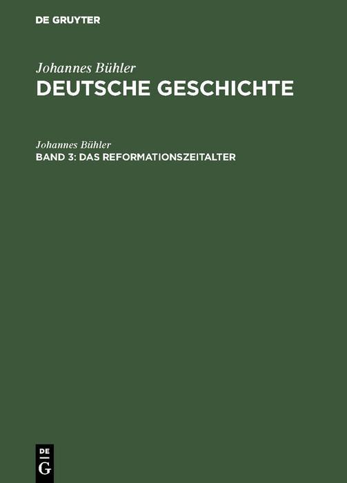 Das Reformationszeitalter als eBook pdf