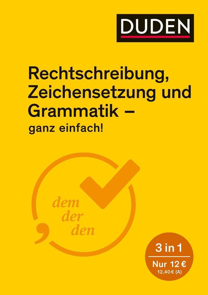 Ganz einfach! - Rechtschreibung, Zeichensetzung und Grammatik als Buch (kartoniert)