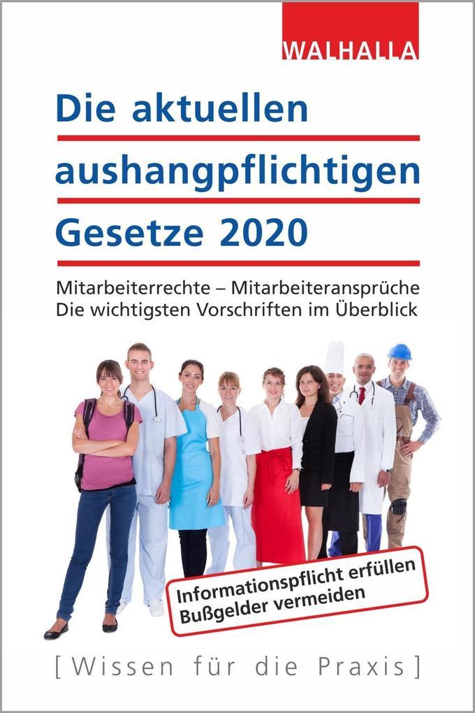 Die aktuellen aushangpflichtigen Gesetze 2020 als Buch (kartoniert)