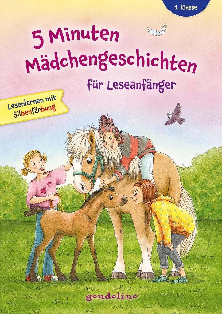 5 Minuten Mädchengeschichten für Leseanfänger mit Silbenfärbung ab 6 Jahre für die 1. Klasse. als Buch (gebunden)