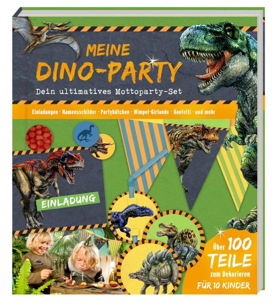 Coppenrath Verlag - Meine Dino-Party T-Rex World, Mottoparty-Set als Buch (kartoniert)