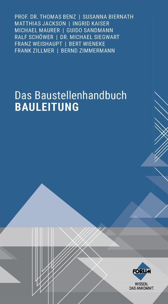 Das Baustellenhandbuch Bauleitung als eBook epub