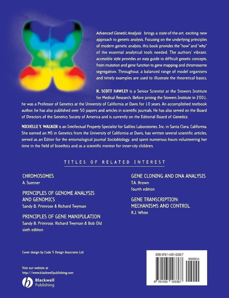 Advanced Genetic Analysis als Taschenbuch