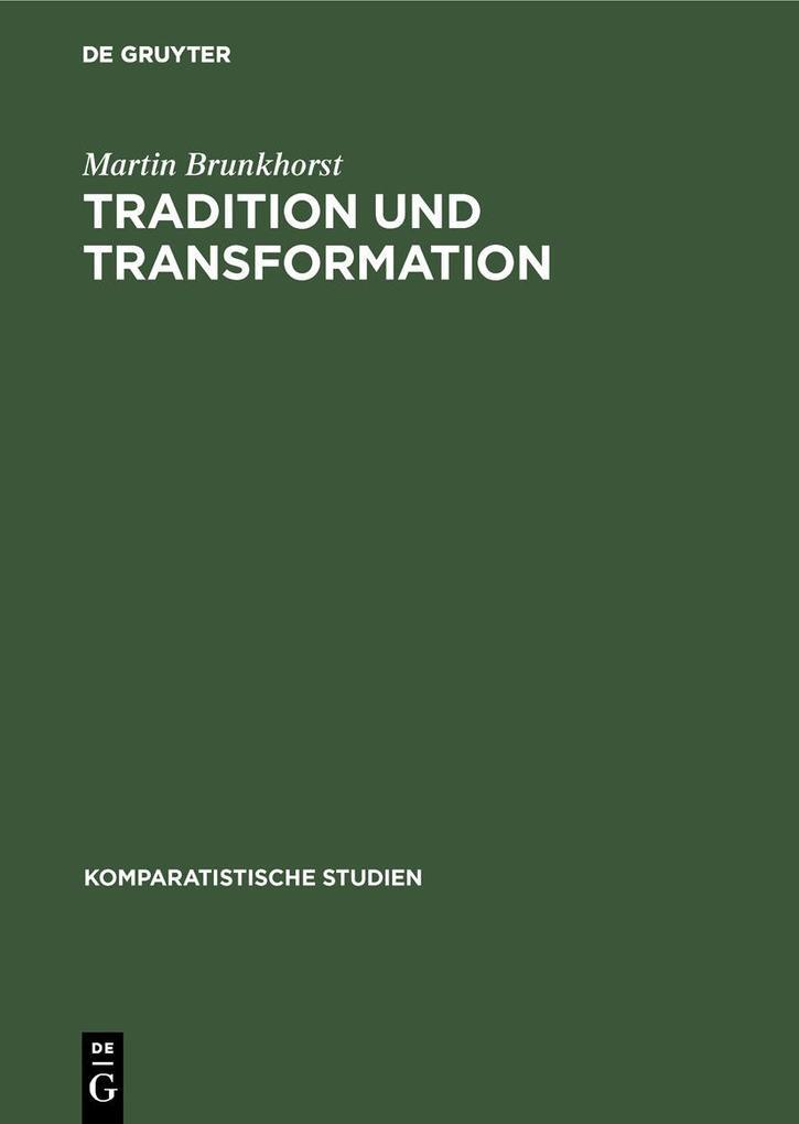 Tradition und Transformation als eBook pdf