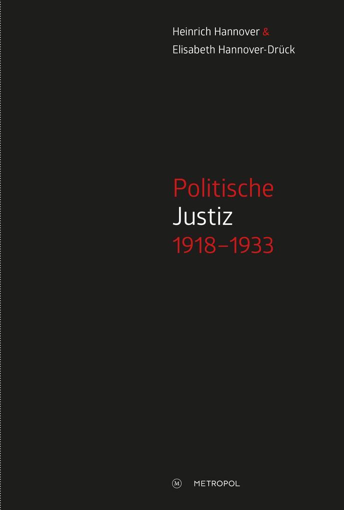 Politische Justiz 1918-1933 als Buch (kartoniert)