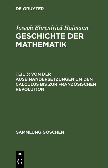Von der Auseinandersetzungen um den Calculus bis zur Französischen Revolution als eBook pdf
