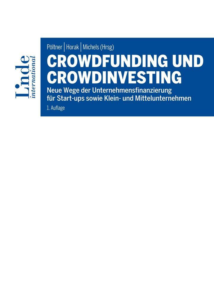Crowdfunding und Crowdinvesting als eBook pdf