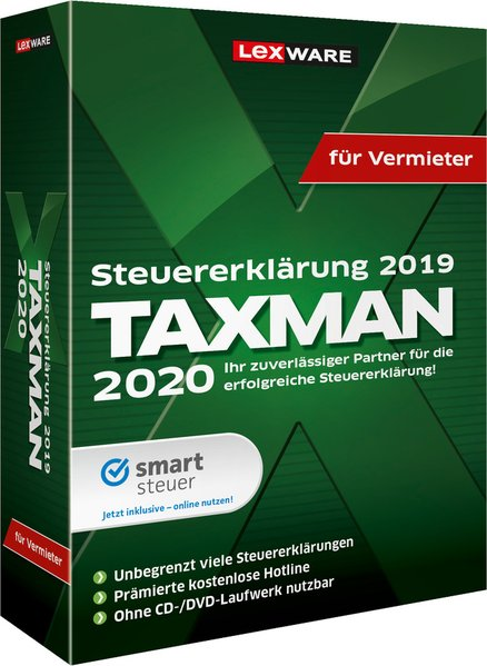TAXMAN 2020 für Vermieter als Software