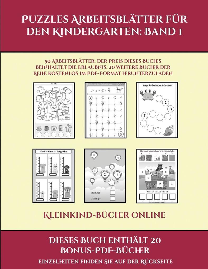 Kleinkind-Bücher online (Puzzles Arbeitsblätter für den Kindergarten: Band 1): 50 Arbeitsblätter. Der Preis dieses Buches beinhaltet die Erlaubnis, 20 als Taschenbuch