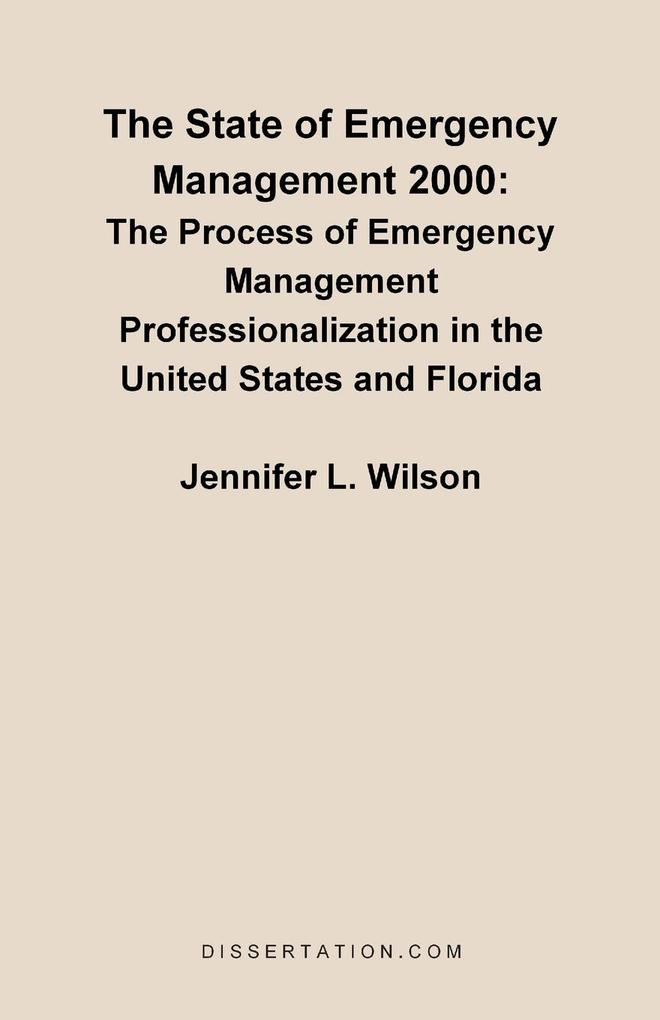The State of Emergency Management 2000 als Taschenbuch