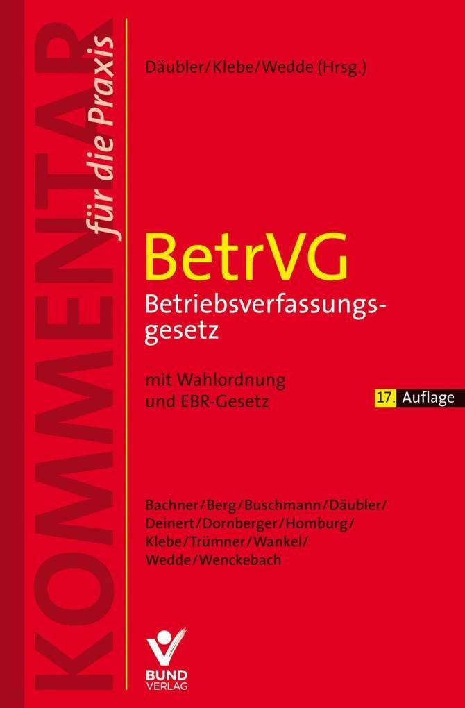BetrVG - Betriebsverfassungsgesetz als Buch (kartoniert)