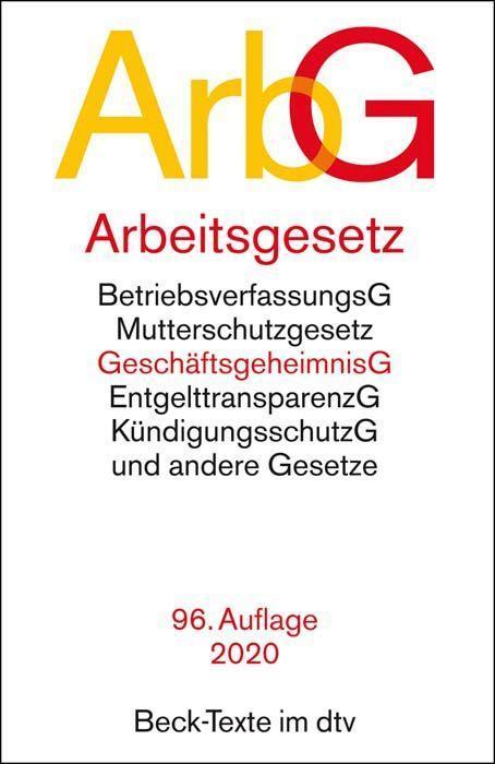 Arbeitsgesetze ArbG als Taschenbuch