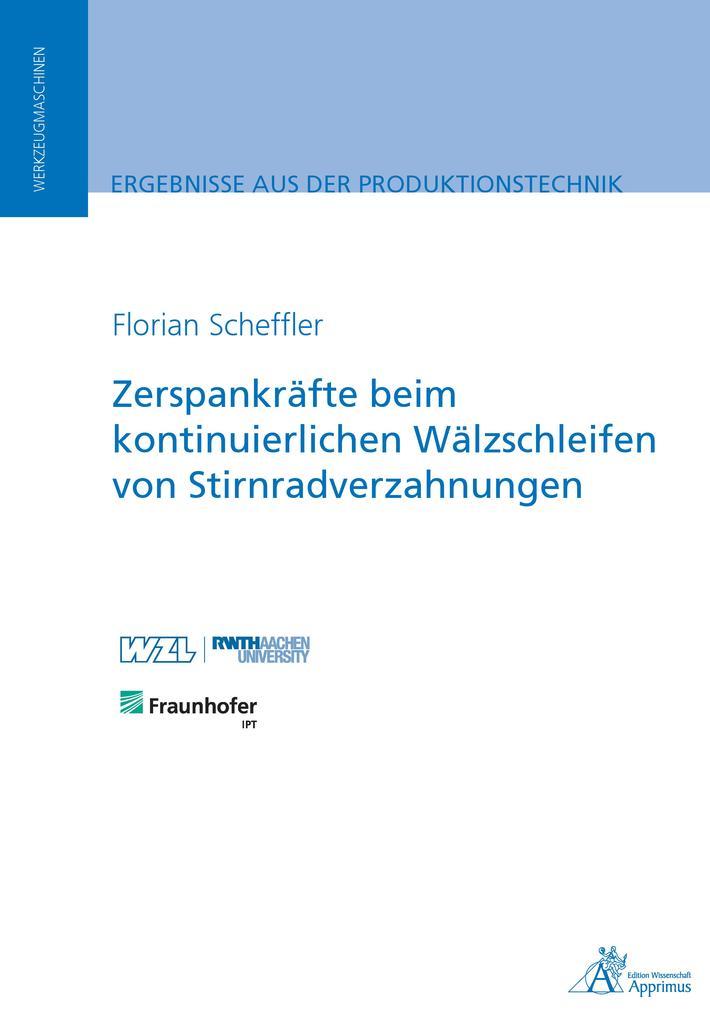 Zerspankräfte beim kontinuierlichen Wälzschleifen von Stirnradverzahnungen als eBook pdf