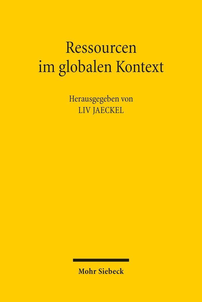 Ressourcen im globalen Kontext als eBook pdf