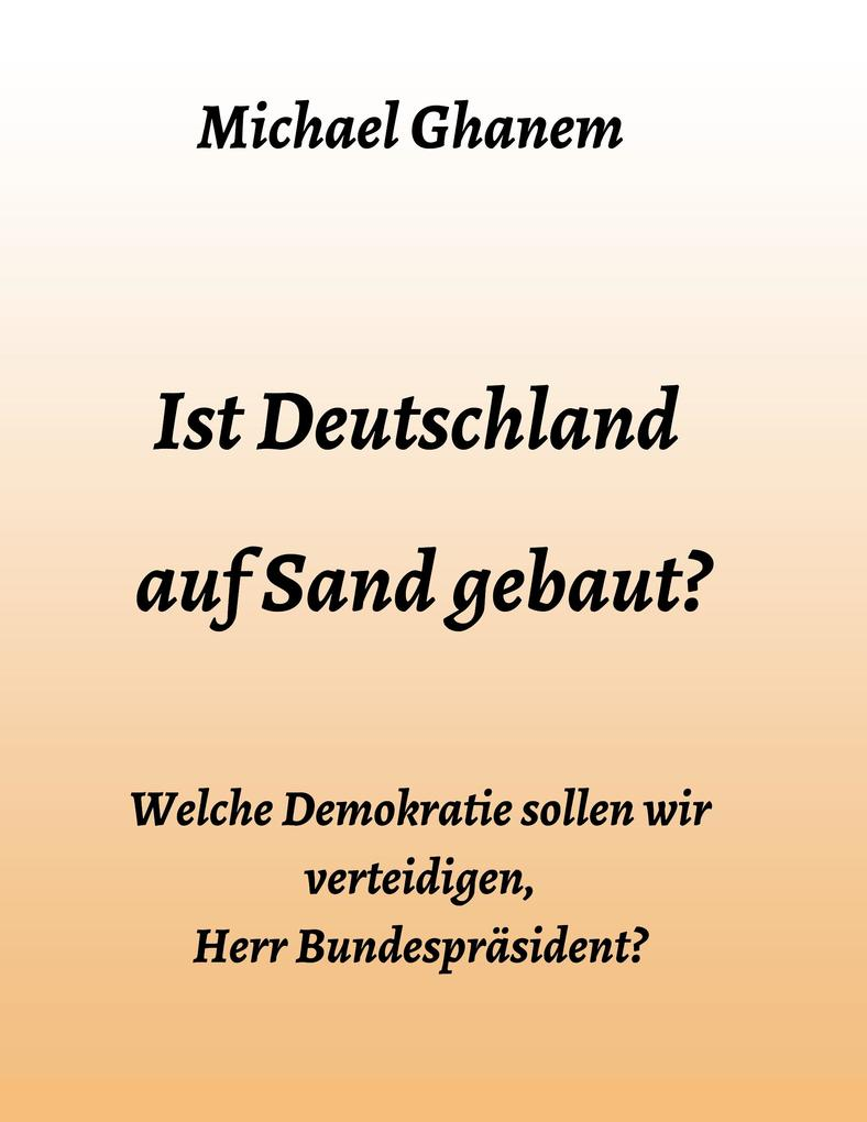Ist Deutschland auf Sand gebaut? als Buch (kartoniert)