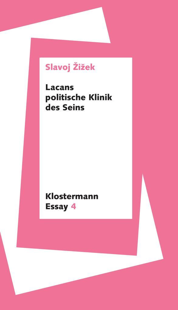 Lacans politische Klinik des Seins als eBook epub