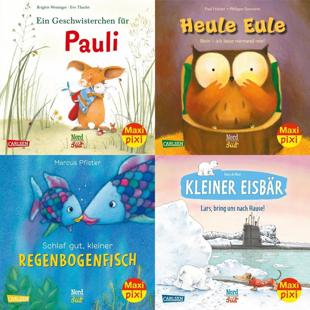 Maxi-Pixi-4er-Set 79: Bilderbuch-Stars bei Maxi Pixi (4x1 Exemplar) als Buch (kartoniert)