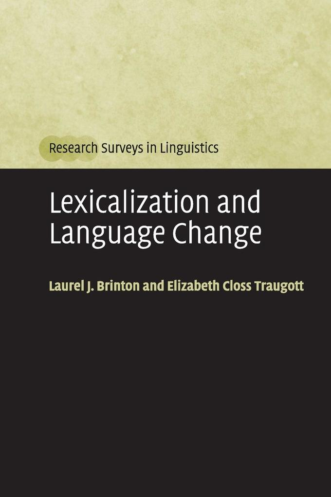 Lexicalization and Language Change als Buch (kartoniert)