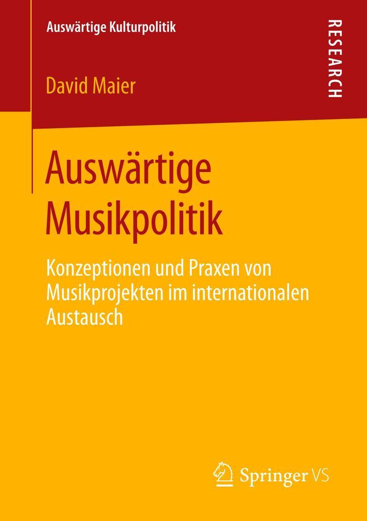 Auswärtige Musikpolitik als Buch (kartoniert)
