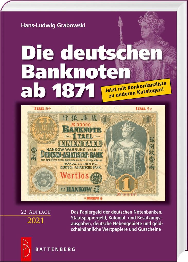 Die deutschen Banknoten ab 1871 als Buch (gebunden)