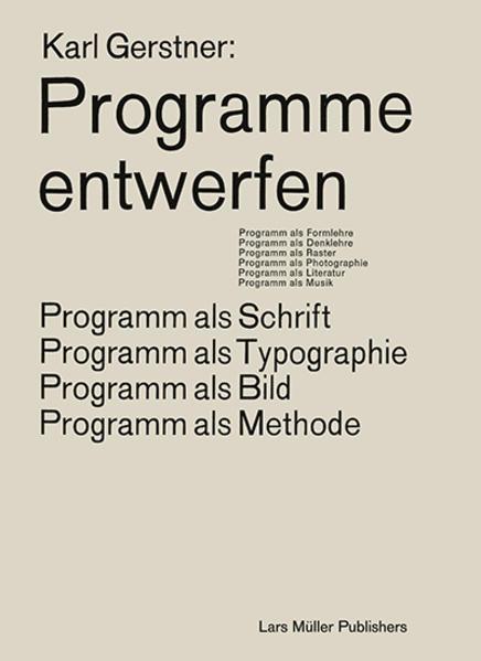 Programme entwerfen als Buch (kartoniert)