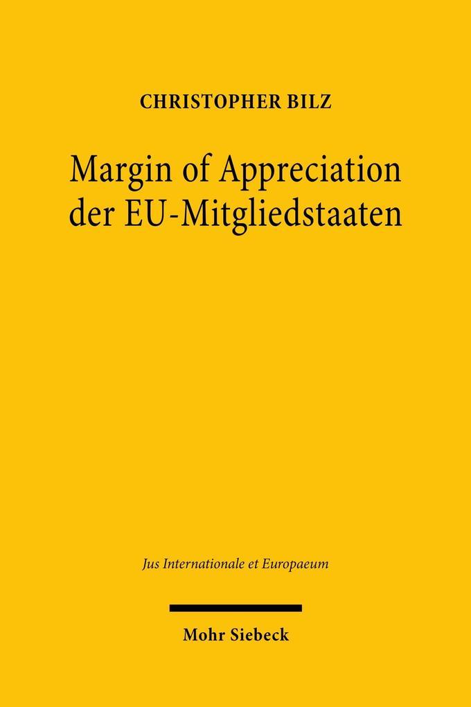 Margin of Appreciation der EU-Mitgliedstaaten als eBook pdf