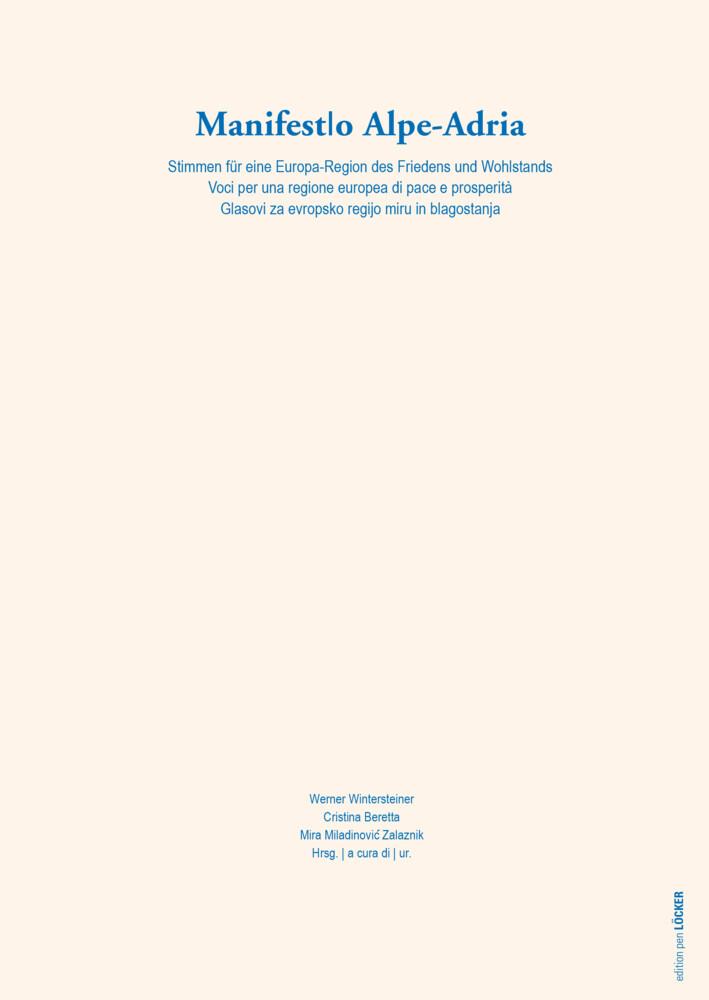 Manifesto Alpe-Adria als Buch (kartoniert)