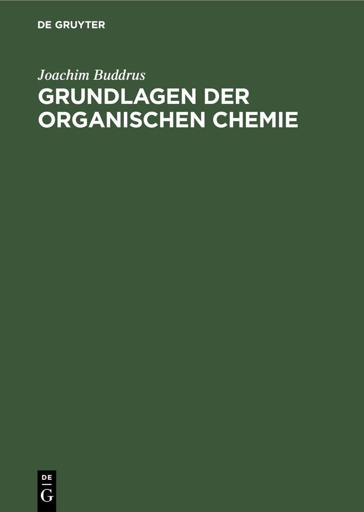 Grundlagen der Organischen Chemie als eBook pdf