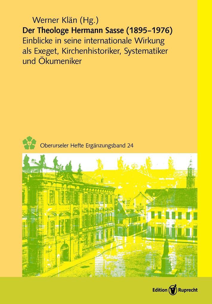 Der Theologe Hermann Sasse (1895-1976) als eBook pdf