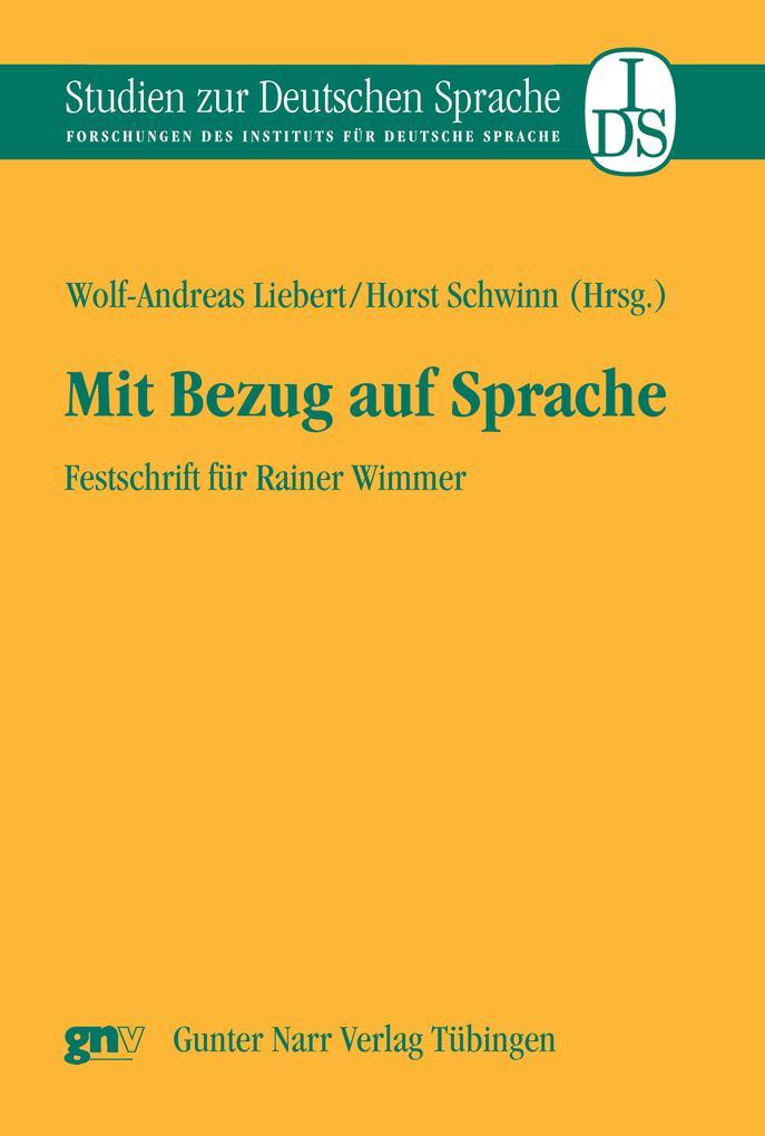 Mit Bezug auf Sprache als eBook pdf