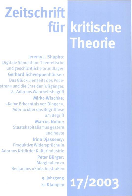 Zeitschrift für kritische Theorie / Zeitschrift für kritische Theorie, Heft 17 als eBook pdf