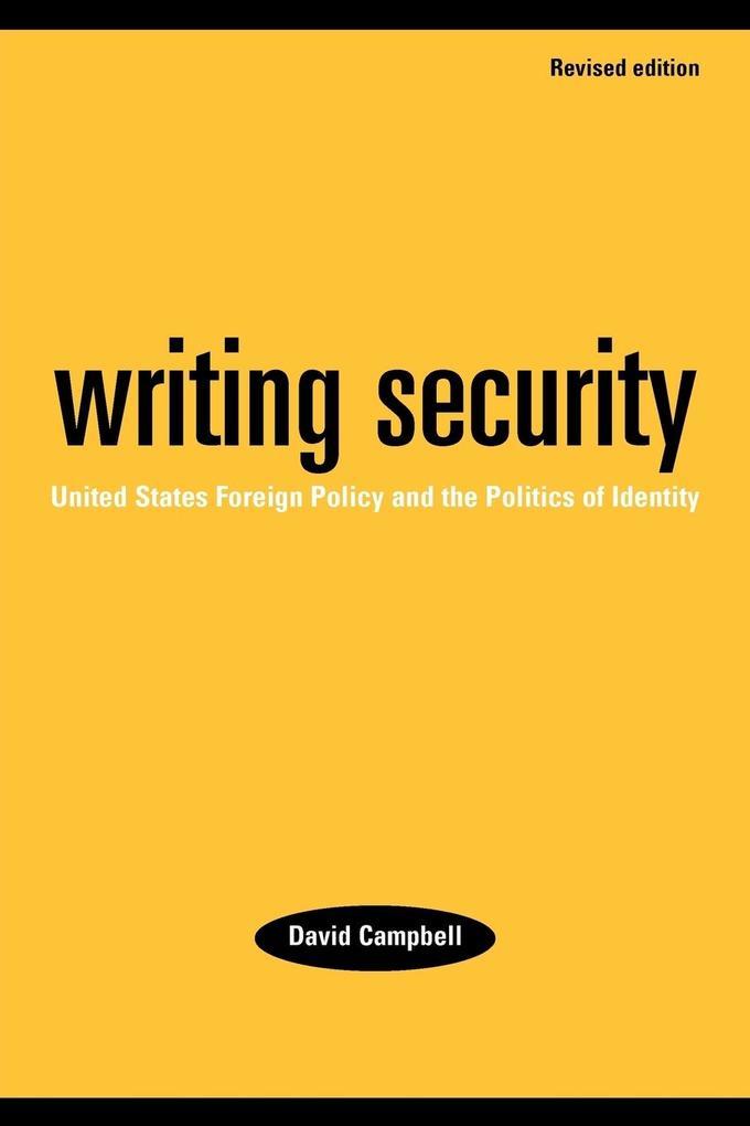 Writing security als Buch (kartoniert)