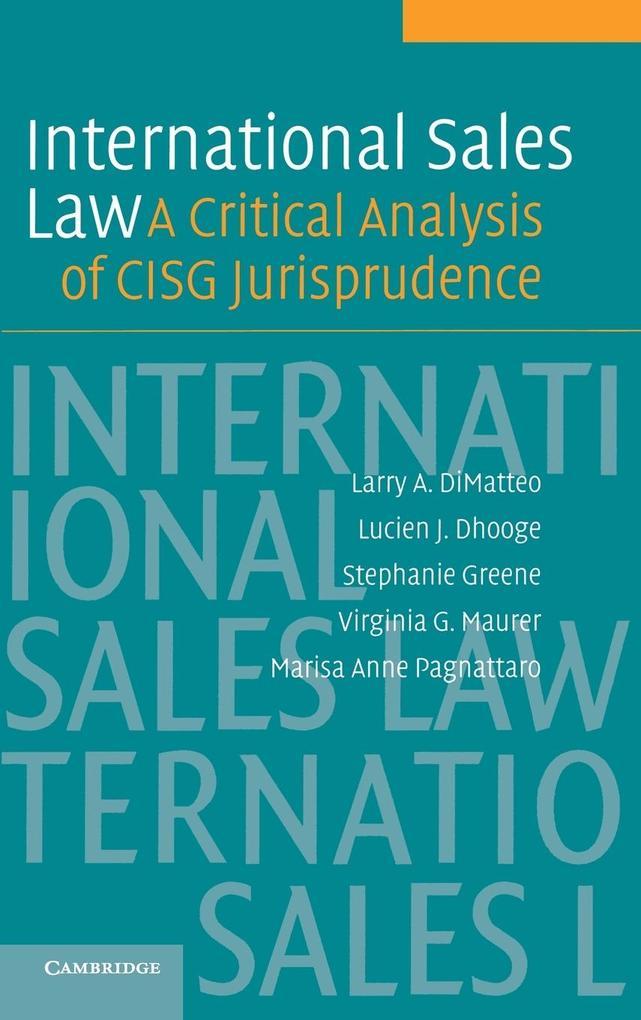 International Sales Law als Buch (gebunden)