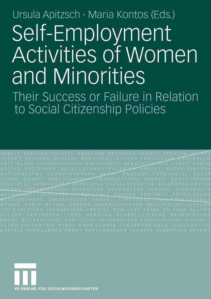 Self-Employment Activities of Women and Minorities als Buch (kartoniert)