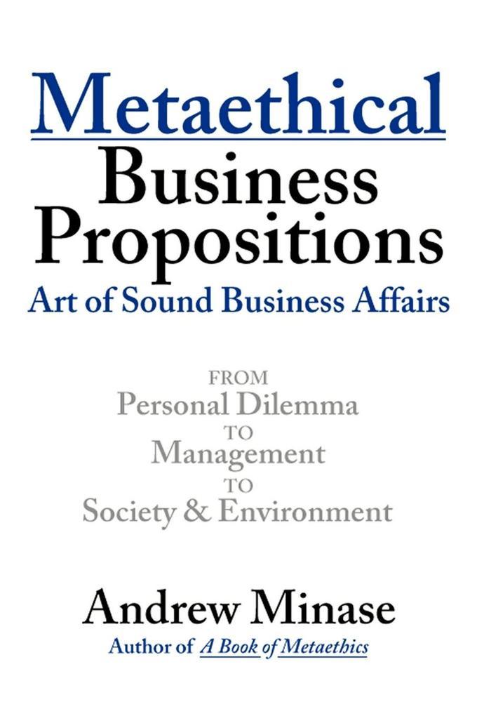 Metaethical Business Propositions als Taschenbuch