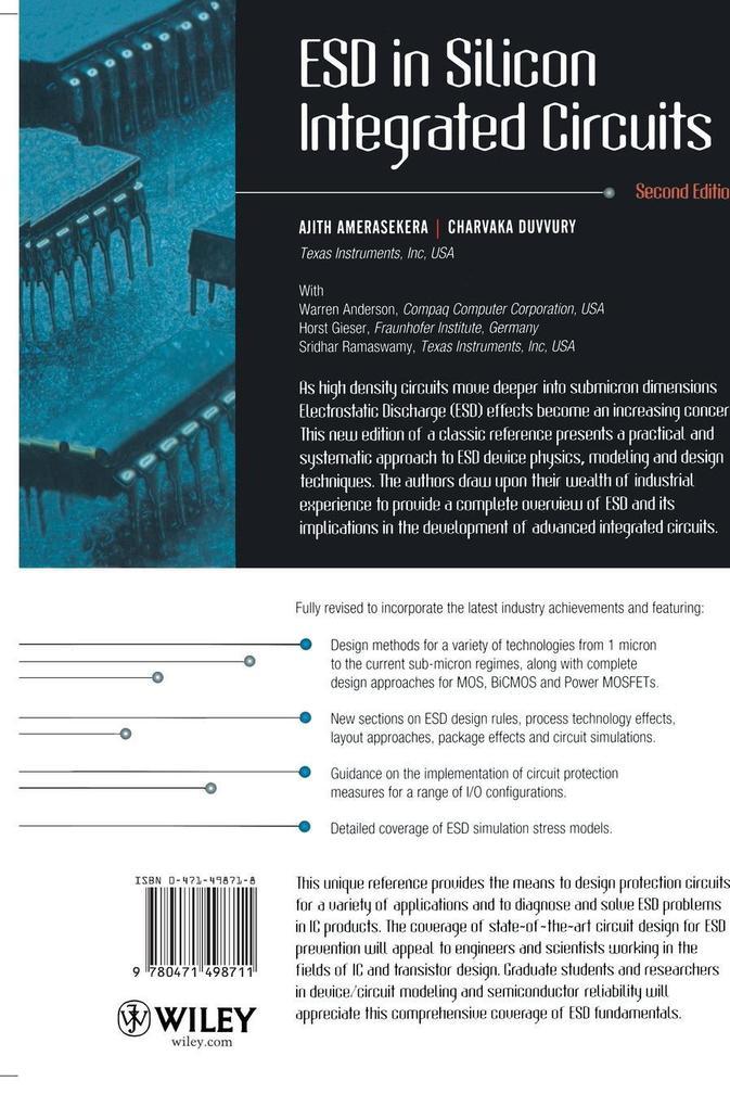 ESD in Silicon Integrated Circuits 2e als Buch (gebunden)