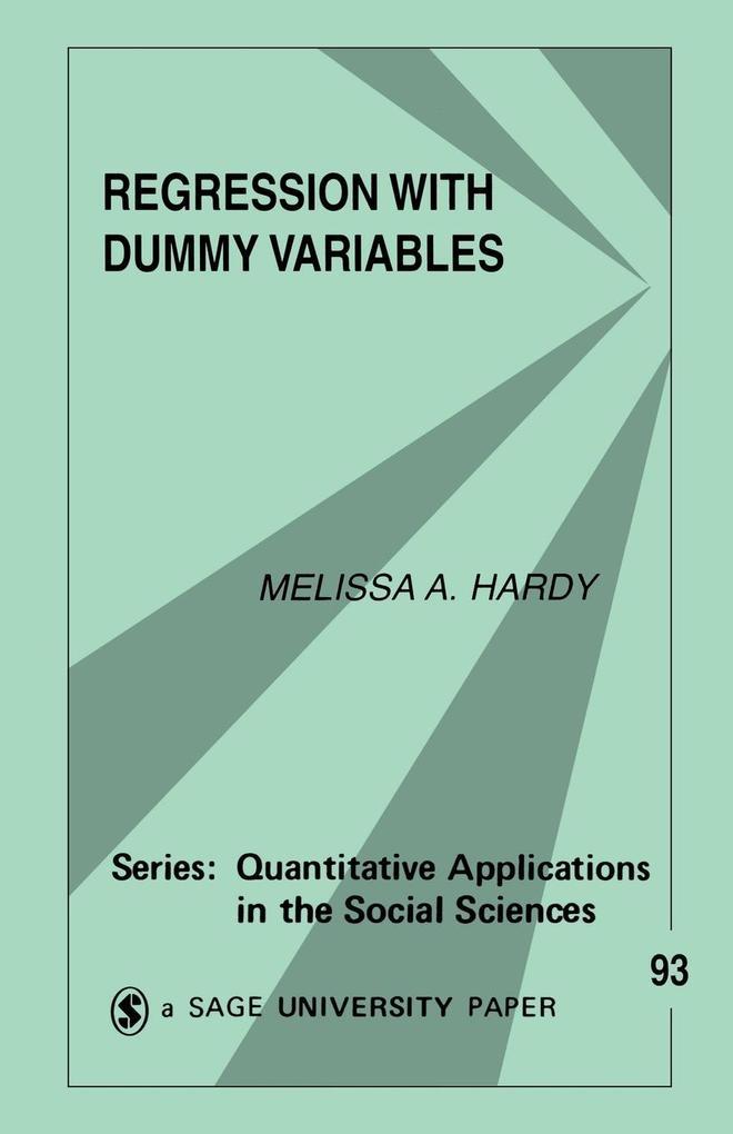 Regression with Dummy Variables als Taschenbuch