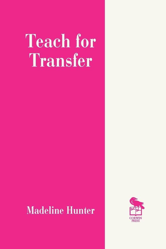 Teach for Transfer als Taschenbuch
