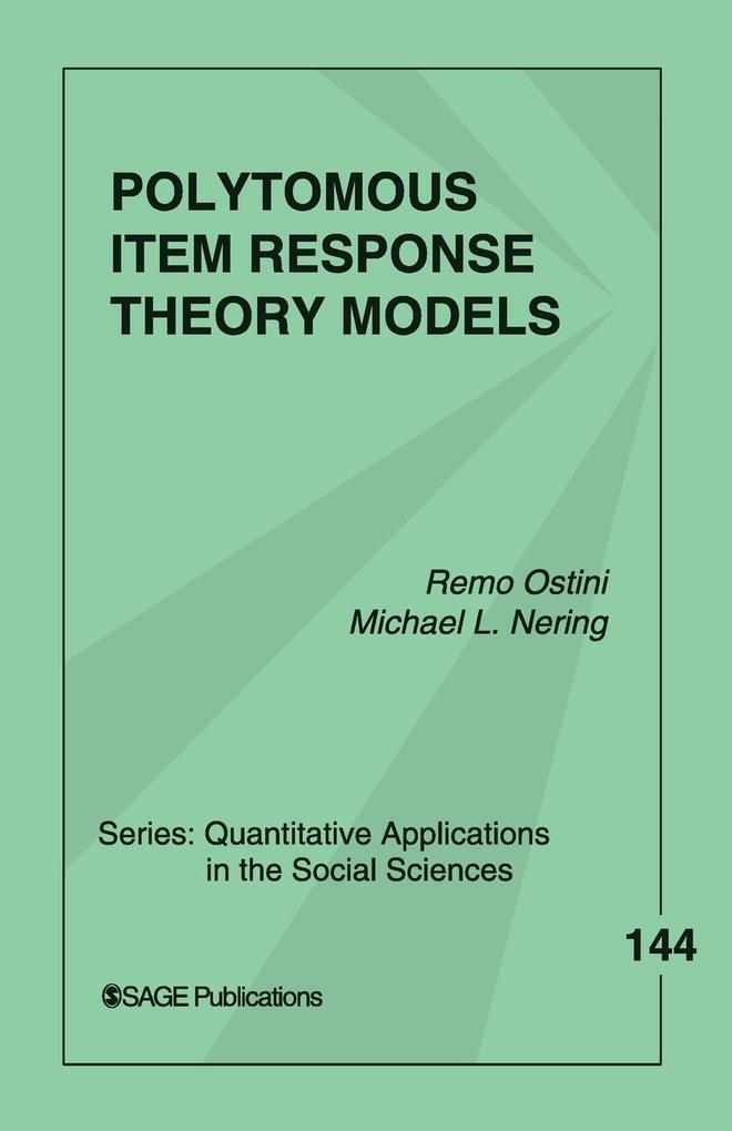 Polytomous Item Response Theory Models als Taschenbuch