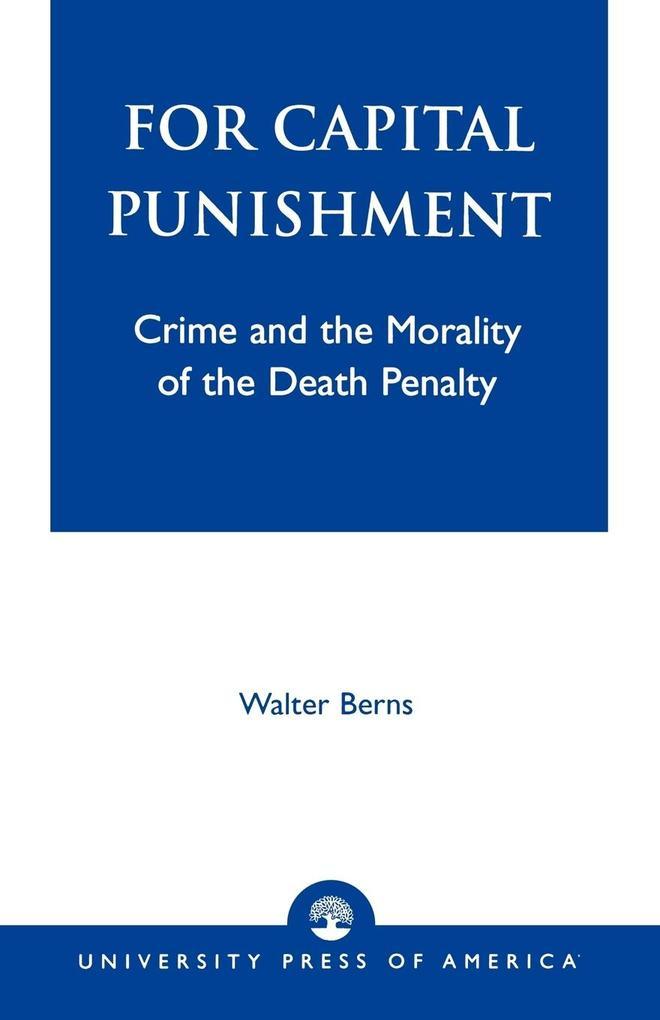 For Capital Punishment als Taschenbuch