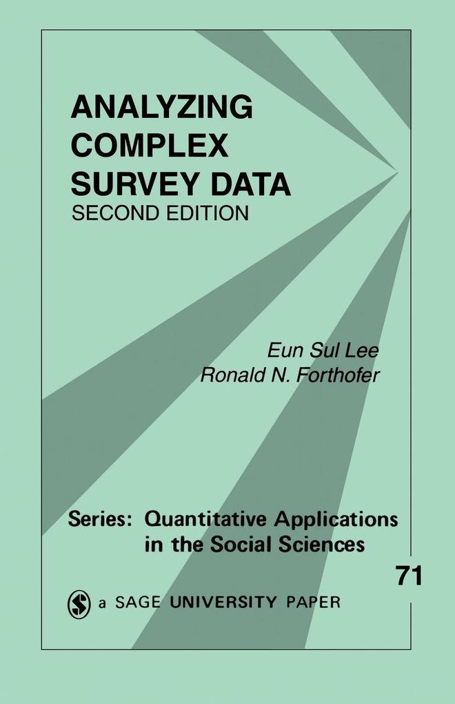 Analyzing Complex Survey Data als Taschenbuch
