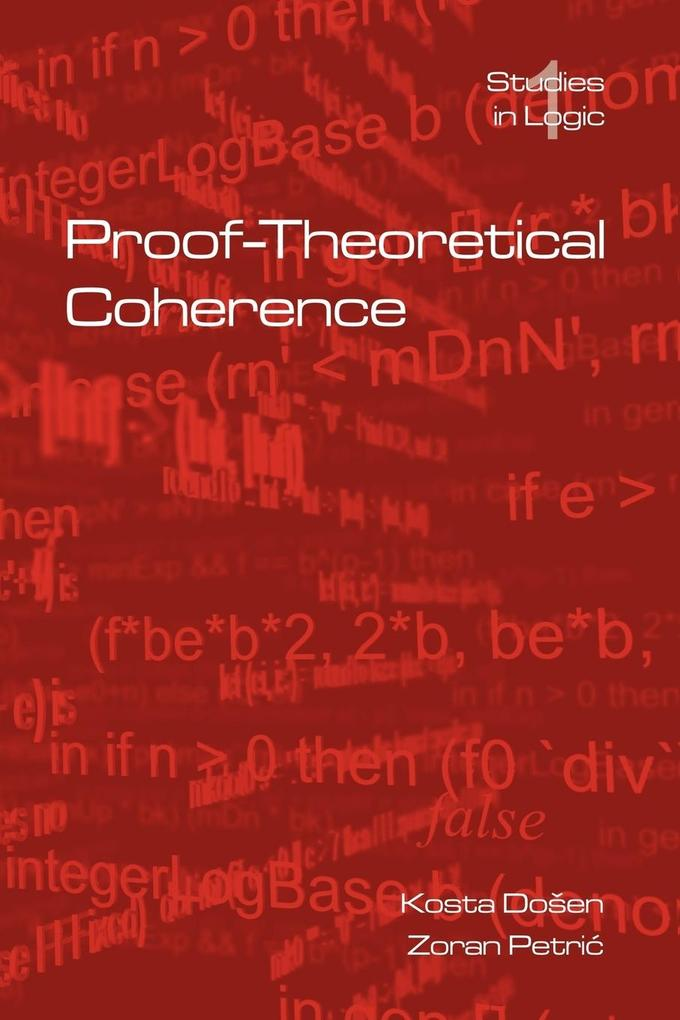 Proof-Theoretical Coherence als Taschenbuch