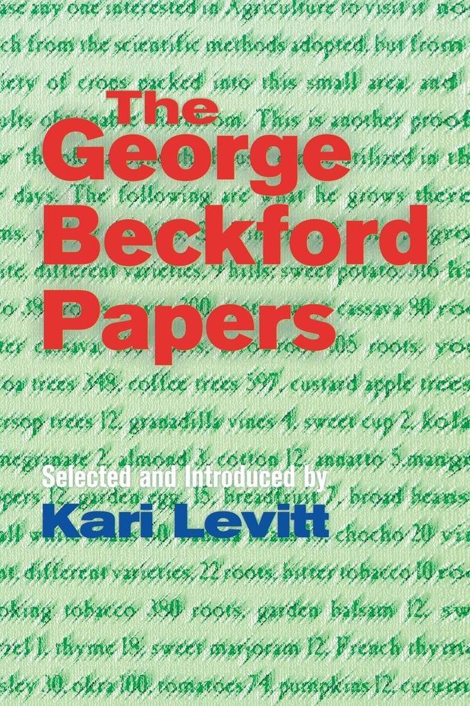 The George Beckford Papers als Taschenbuch