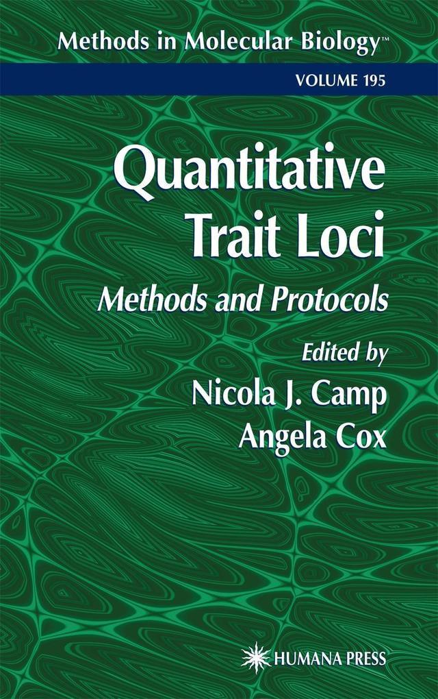 Quantitative Trait Loci: Methods and Protocols als Buch (gebunden)